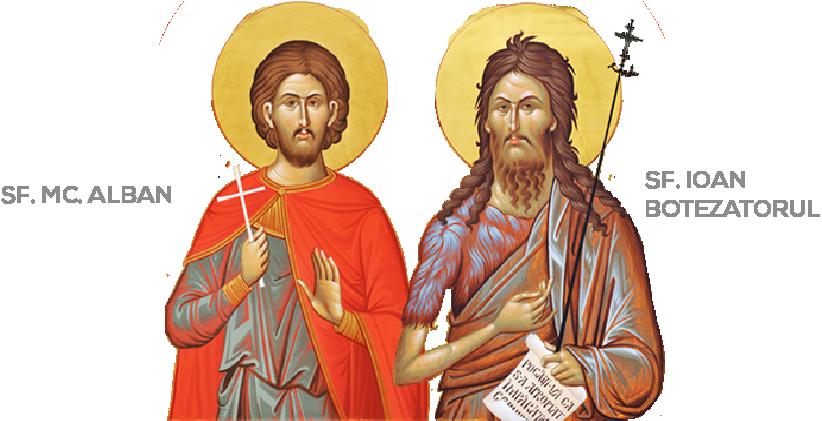 Sf. Mucenic Alban si Sf. Ioan Botezatorul